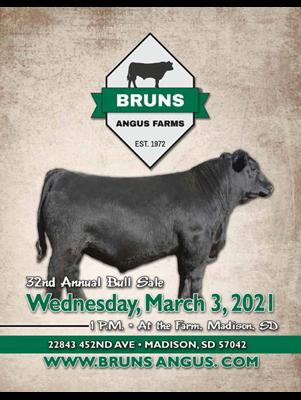 Bruns Angus Farms Sale Ad